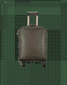 Chanel Dark Khaki Quilted Coco Case Trolley Bag