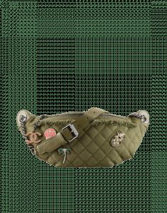 Chanel Khaki Canvas/Lambskin Coco Cuba Waist Bag