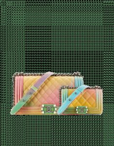 Chanel Multicolor Old Medium and Mini Rainbow Boy Chanel Flap Bag
