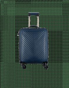 Chanel Navy Blue Chevron Coco Case Trolley Bag