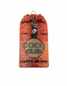 Chanel Orange/Coral Embroidered Tweed Cubano Trip Backpack Bag