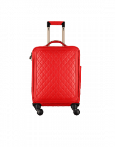 Chanel Red Quilted Coco Case Trolley Bag