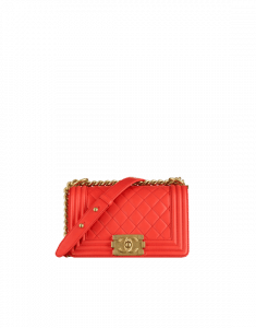 Chanel Red Small Boy Chanel Flap Bag