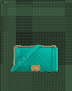 Chanel Turquoise Old Medium Boy Chanel Flap Bag