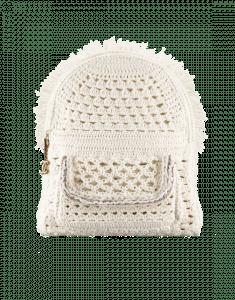 Chanel White Crochet Cayo Coco Backpack Bag