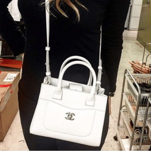 Chanel White Neo Executive Shopping Bag
