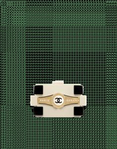 Chanel White/Black Havana By Night Boy Brick Bag