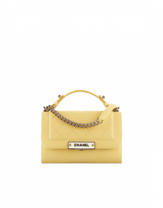 Chanel Yellow Label Click Small Flap Bag