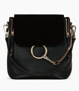 Chloe Black Medium Faye Backpack Bag
