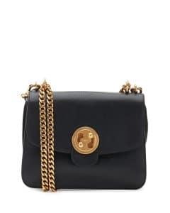 Chloe Black Milie Medium Turn-Lock Chain Shoulder Bag