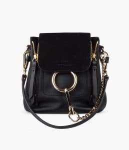 Chloe Black Mini Faye Backpack Bag