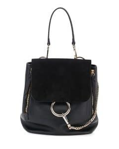 Chloe Black Suede and Leather Faye Medium Backpack Bag