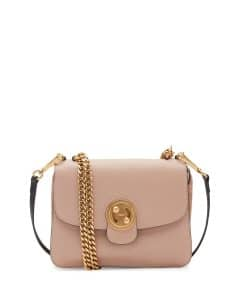 Chloe Light Beige Milie Medium Turn-Lock Chain Shoulder Bag