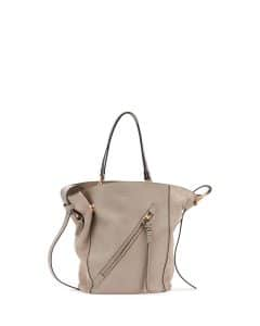 Chloe Motty Grey Leather/Suede Myer Medium Tote Bag