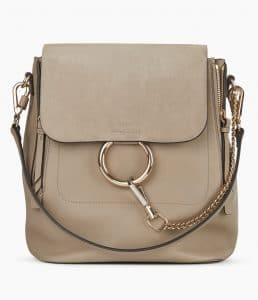 Chloe Motty Grey Medium Faye Backpack Bag