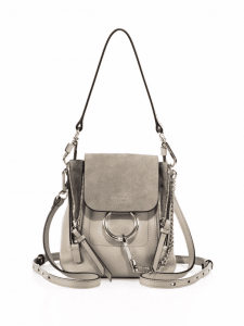 Chloe Motty Grey Mini Faye Backpack Bag