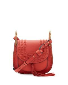 Chloe Sepia Red Leather Hudson Small Bag