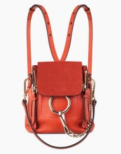 Chloe Sepia Red Mini Faye Backpack Bag