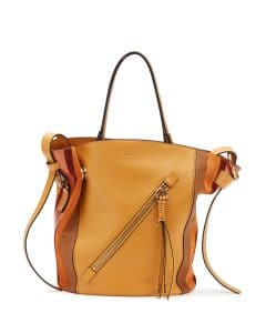 Chloe Sunflower Yellow Leather/Suede Myer Medium Tote Bag