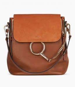 Chloe Tan Medium Faye Backpack Bag