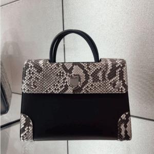 Dior Black/Blue Smooth Prestige Calfskin and Roccia Python Mini Diorever Bag with Corners