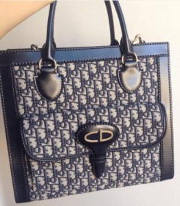 Dior Black/Gray Logo Printed Tote Bag