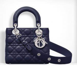 Dior Bleu De Minuit Small Lady Dior Bag