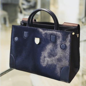 Dior Blue Pony-Effect Calfskin Diorever Bag with Corners