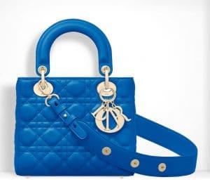 Dior Blue Small Lady Dior Bag