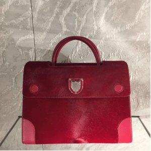 Dior Dark Red Pony-Effect Calfskin Diorever Bag with Corners 2