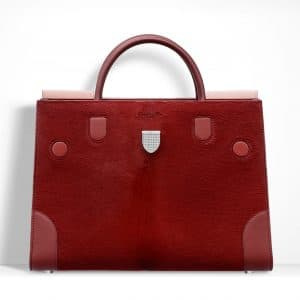 Dior Dark Red Pony-Effect Calfskin Diorever Bag with Corners