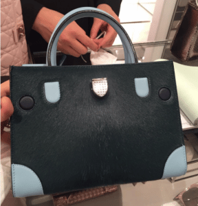 Dior Green/Ice Blue Pony-Effect Calfskin Mini Diorever Bag with Corners 2