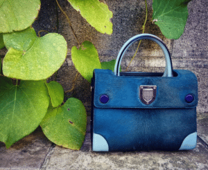 Dior Green/Ice Blue Pony-Effect Calfskin Mini Diorever Bag with Corners 3