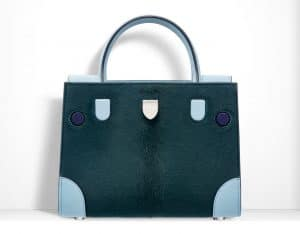 Dior Green/Ice Blue Pony-Effect Calfskin Mini Diorever Bag with Corners