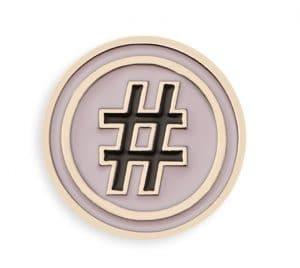 Dior Hashtag Lucky Badge