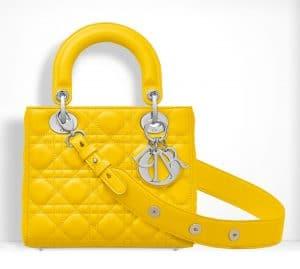 Dior Mimosa Yellow Small Lady Dior Bag