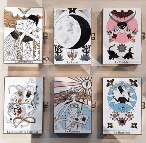 Dior Multicolor Tarot Printed Minaudiere Bags