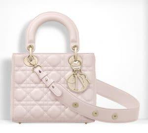 Dior Powder Pink Small Lady Dior Bag