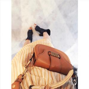 Dior Tan Saddle Bag