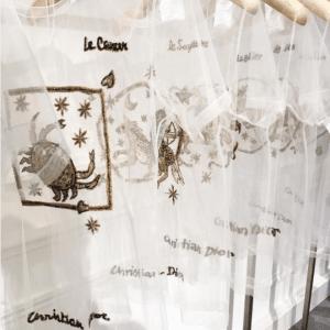 Dior White Transparent Astrology Shirt
