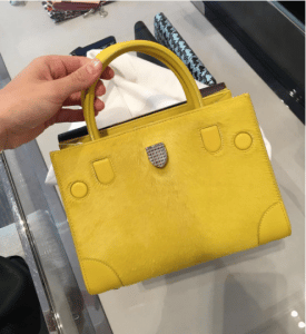 Dior Yellow Pony-Effect Calfskin Mini Diorever Bag with Corners