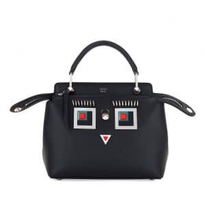 Fendi Black Hypnoteyes Small Dotcom Bag