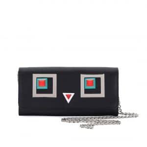 Fendi Black Hypnoteyes Wallet-On-Chain Bag