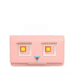 Fendi Light Pink Hypnoteyes Small Leather with Chain Strap Bag