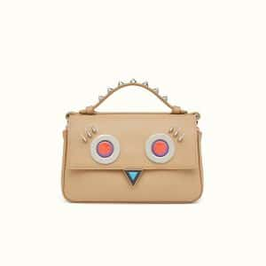 Fendi Natural-Colored/Pink Hypnoteyes Double Micro Baguette Bag