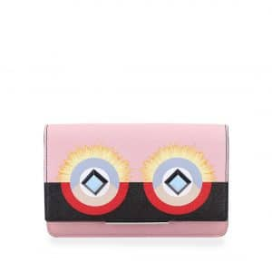 Fendi Pink/Black Hypnoteyes Flap Wallet-On-Chain Bag