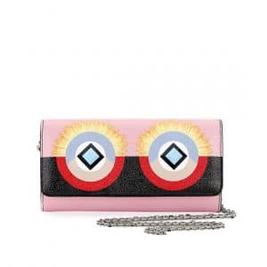Fendi Pink/Black Hypnoteyes Wallet-On-Chain Bag