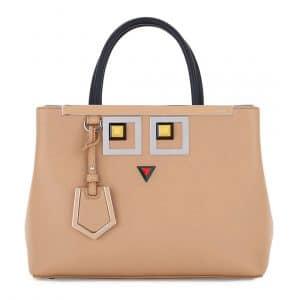 Fendi Tan Hypnoteyes 2Jours Petite Bag