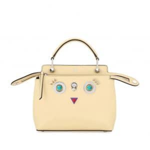 Fendi Yellow Hypnoteyes Small Dotcom Bag