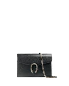 Gucci Black Dionysus Leather Mini Chain Bag